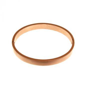 Armreif mit Gravur, roségoldfarben 7mm Durchmesser