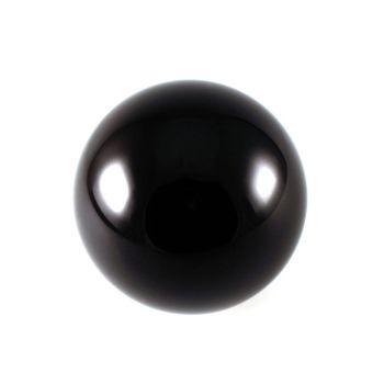 Billardkugel mit Gravur, schwarz
