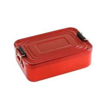 Brotdose mit Gravur rot
