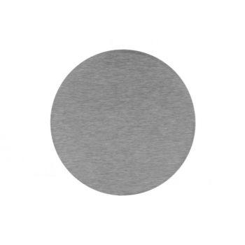 Edelstahl Platte mit Gravur, rund
