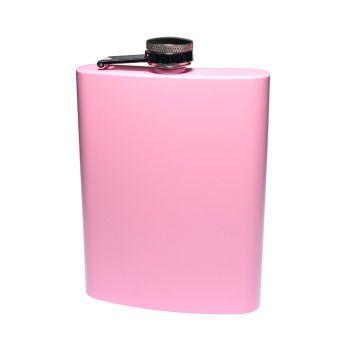 Flachmann rosa, mit Gravur