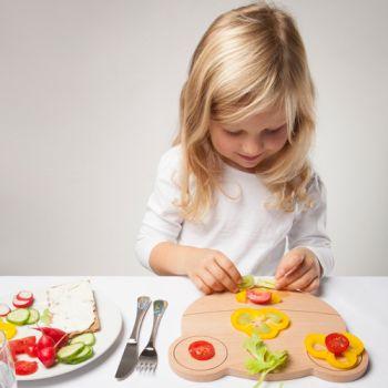Frühstücksbrettchen mit Gravur, BREAD FROG