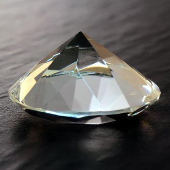 Glasdiamant mit Gravur, 5 cm