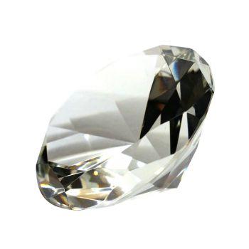 Glasdiamant mit Gravur, 12 cm