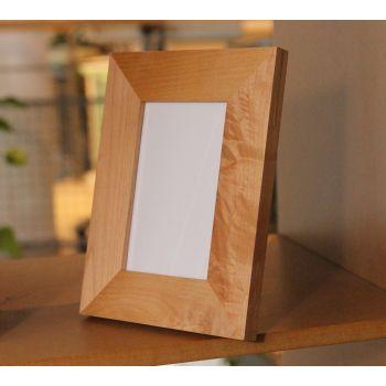 Holz-Bilderrahmen mit Gravur, 23 x 18 cm
