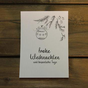 Weihnachtskarte Christbaumkugel - selbst gestalten