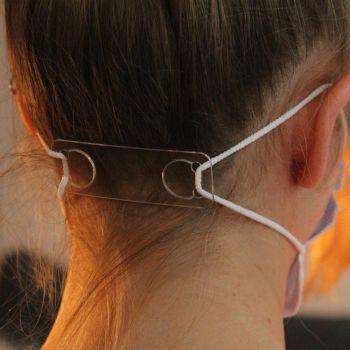 Maskenhalter/Ohrenschutz für Einweg OP-Masken, 10er Packung