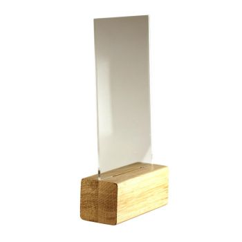 Trophäe aus Holz mit Acryl individuell