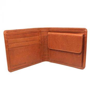 Geldbörse mit Gravur, Naturleder