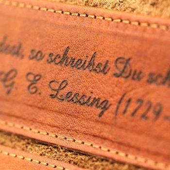 Portemonnaie aus Naturleder mit Gravur