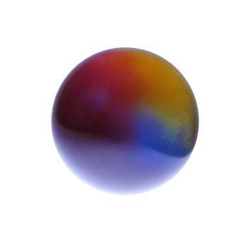 Glaskugel mit Gravur, regenbogen-farben