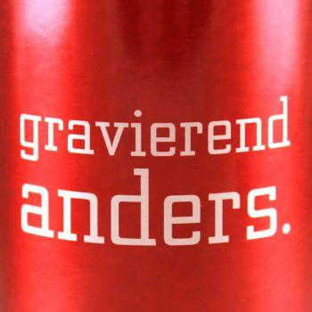Trinkflasche mit Gravur rot