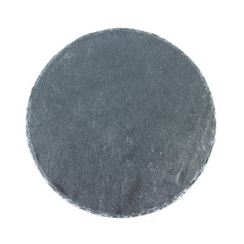 Schieferplatte rund, mit Gravur