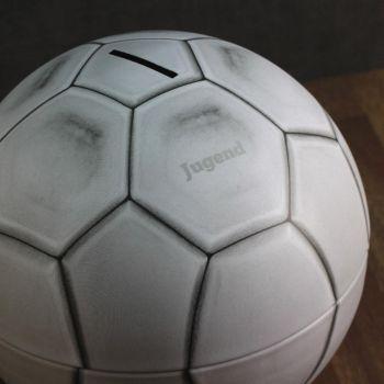 Spardose Fußball mit Gravur, Jugend