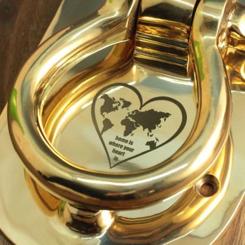 türklopfer gold mit gravur