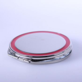 Taschenspiegel vernickelt und mit Lasergravur