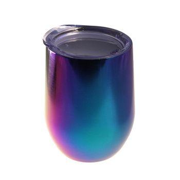 Thermobecher in Regenbogenfarben, 0,2 L mit Gravur