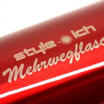 Thermoskanne mit Gravur, rot, 0,5 l