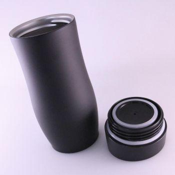 Thermobecher mit Gravur, matt schwarz, 0,4 L