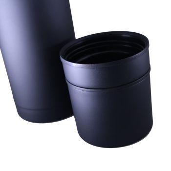 Thermoskanne mit Lasergravur, matt schwarz, 0,7 L