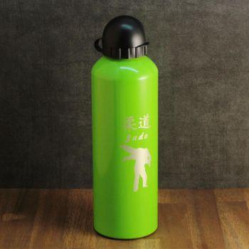 Trinkflasche mit Gravur, grün