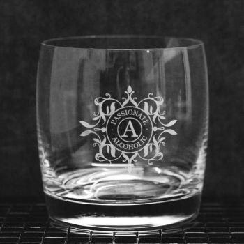 Whisky-Glas Tumbler mit Gravur frei gestalten