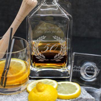 Whisky Karaffe mit Gravur