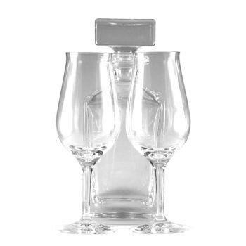 Whisky Snifter Set mit Gravur, Karaffe mit 2 Tasting Gläsern