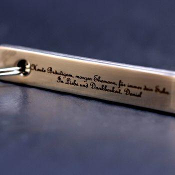 Grillpinzette aus Edelstahl mit persönlicher Gravur