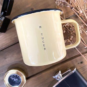 emaille kaffeebecher mit gravur