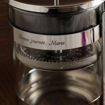 Kaffeepresse mit Gravur