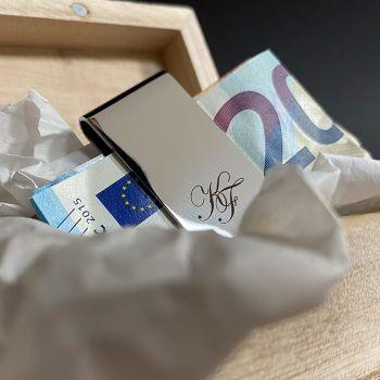 Geldklammer mit Gravur bestellen Unterseite