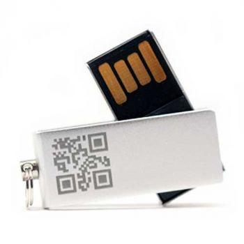 USB-Stick mit Gravur, 16 GB, Aluminium, silber