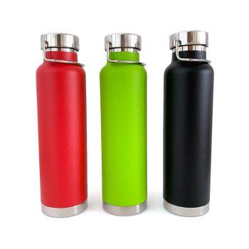 Isolierflasche mit Gravur, Edelstahl, 0,65 L, verschiedene Farben