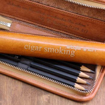 leder zigarrenetui personalisiert mit Gravur