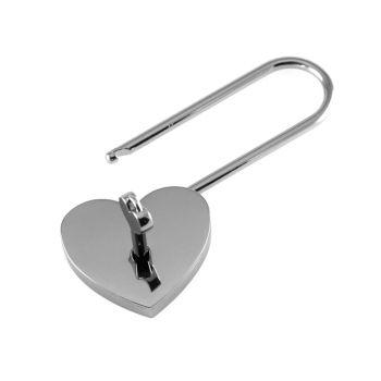 Liebesschloss Herzform mit Gravur gestalten