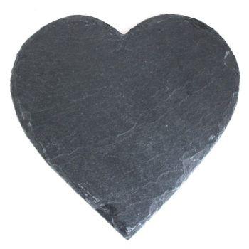 Schieferplatte Herzform