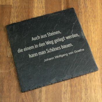 Schierplatte mit Gravur, Beispiel