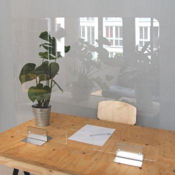 Spuckschutz, Thekenaufsatz, 100 x 60 cm mit Metallfüße