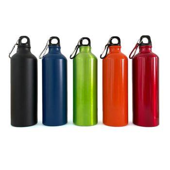 Metall-Trinkflasche mit Gravur, 0,8 L, verschiedene Farben