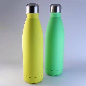 Isolierte Trinkflasche in hellen Farben, 0,5 L mit Gravur