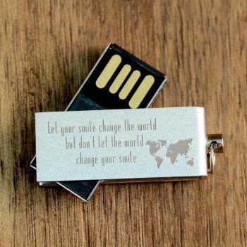 USB-Stick mit Logo, 8 GB, Aluminium
