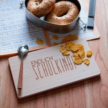 Frühstücksbrettchen mit Gravur