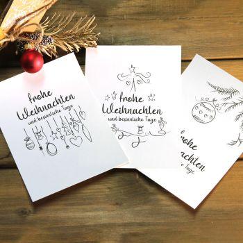 Weihnachtskarten- selbst gestalten