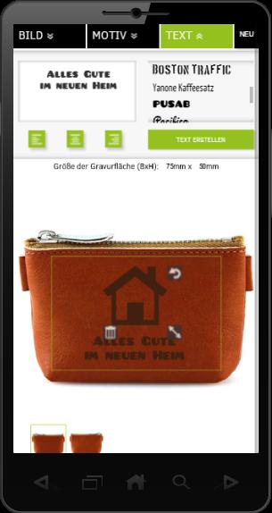 SIGNUU Gravur Lasergravur Whitelabel - Smartphone-Ansicht