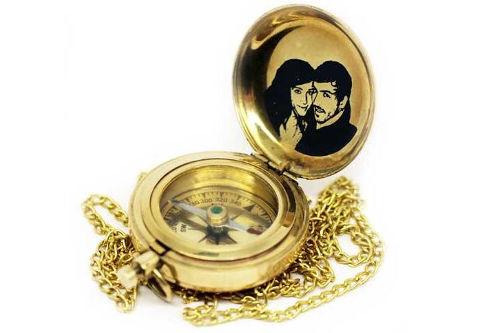 Kompass mit Gravur