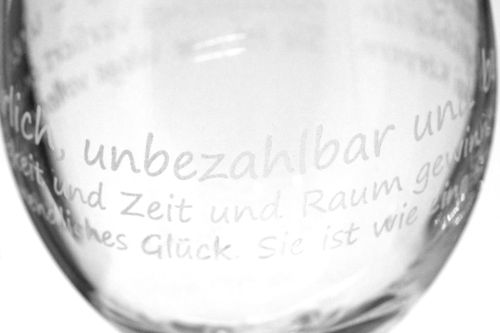 Rundgravur Glas