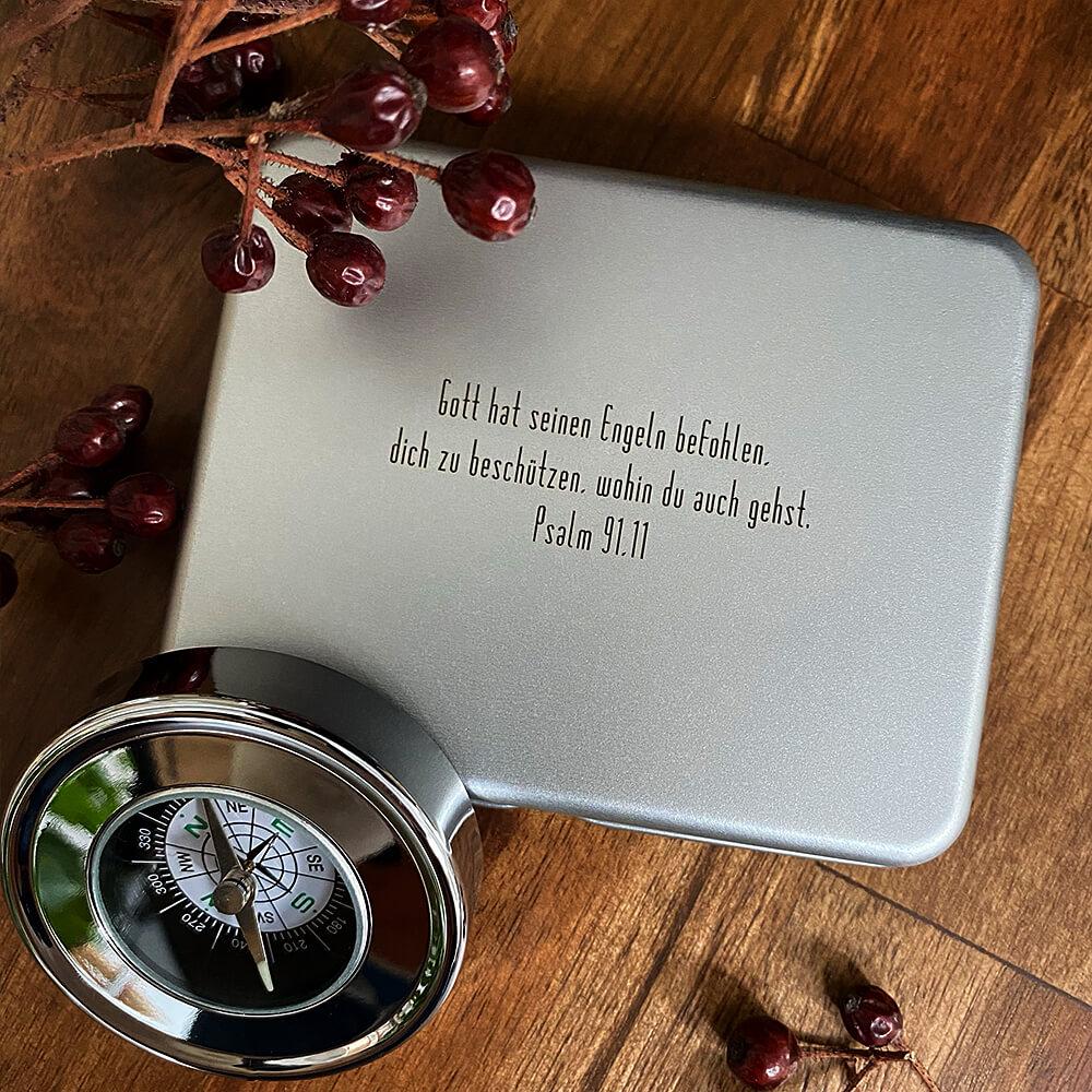 Kommunion Geschenk Kompass mit Gravur