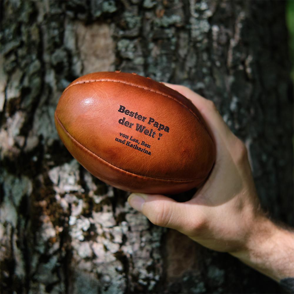 geschenke sommer Rugby Ball mit Gravur