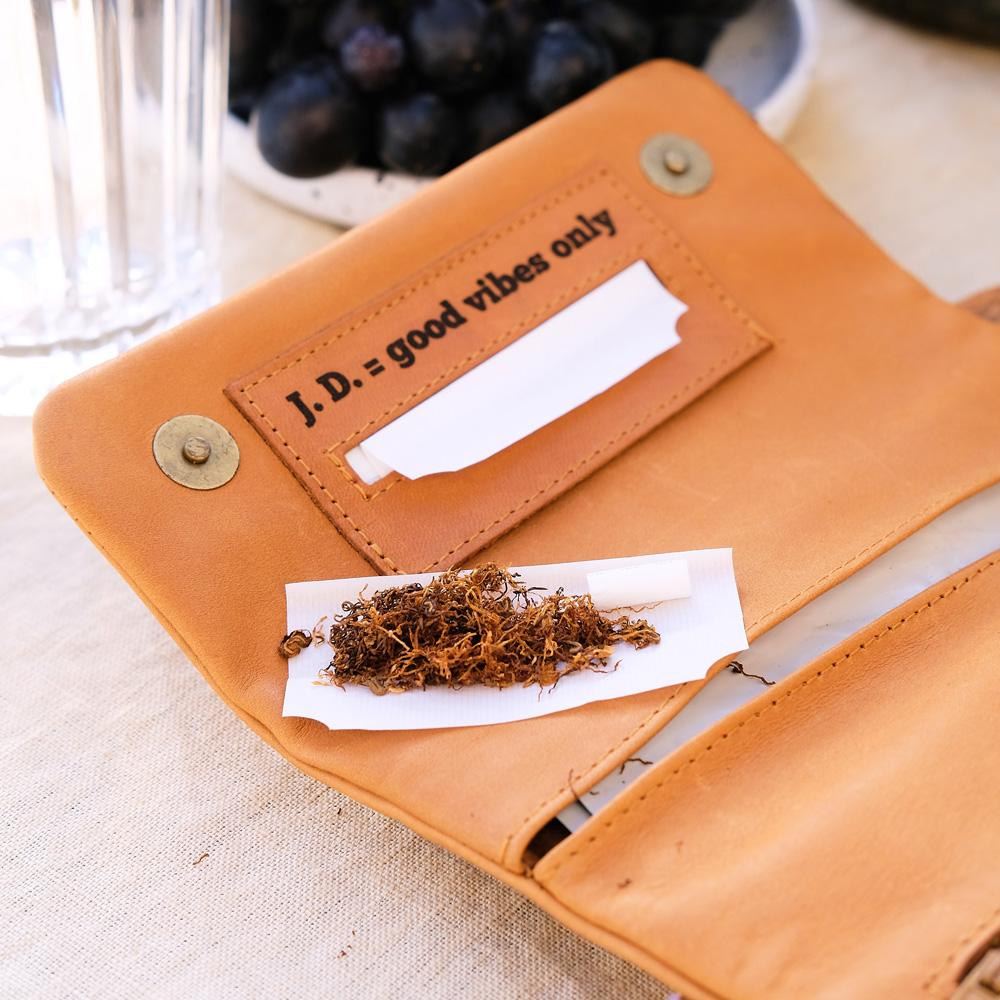 geschenke sommer freundin Tabaktasche mit Gravur